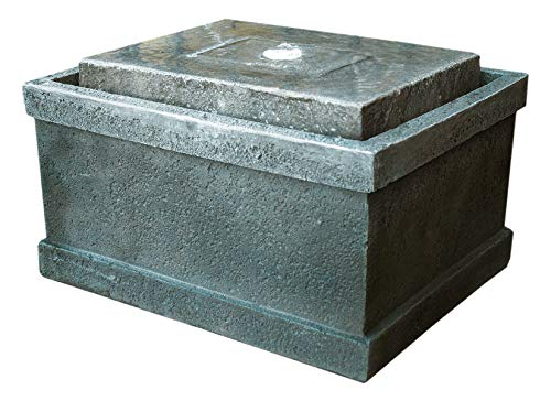 """Used, Stone Chest Fountain and Birdbath 19"""" w/LED Light: for sale  Delivered anywhere in USA"""