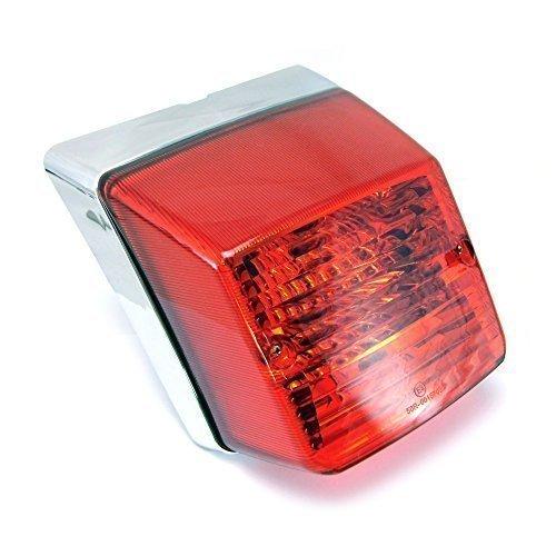 Fanale posteriore di alta qualità , design retrò , per Vespa PX 125/150/200, cromato design retrò Alchemy Parts Ltd