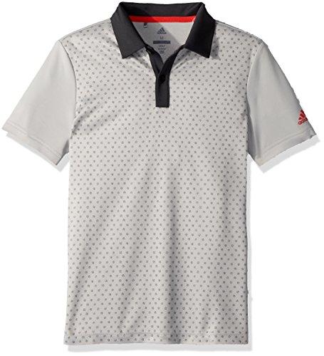 - adidas Golf Micro Dot Print Polo, Grey Two, X-Large
