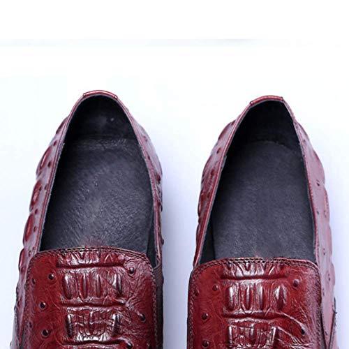 Cuero Brown Inglaterra De Hombres Zapatos Señaló Cómodo Encajes Negocios Zpedy 7tqPSwUx