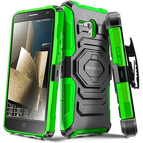 Evocel Alcatel OneTouch Fierce XL [New Generation] Rugged Holster Dual Layer Case [Kickstand][Belt Swivel Clip] For Alcatel OneTouch Fierce XL (2015 Release), Green (Evocel Case Alcatel)