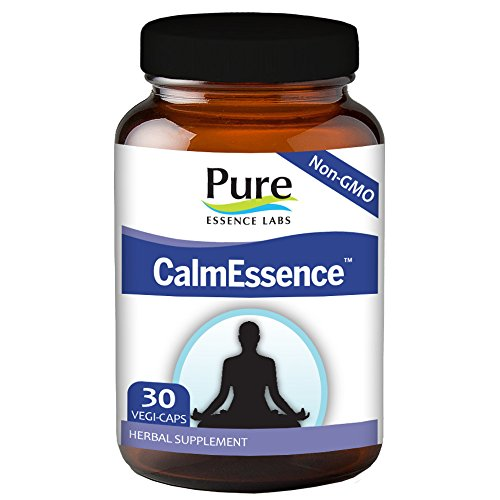 Cheap Pure Essence Labs CalmEssence – Suntheanine With Adaptogens To Provide A Powerful Sense Of Calm – 30 Vegetarian Capsules