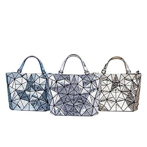 Baobao Géométrique Designer Style main 1 à Sacs Miroir Sacs 2 Derniers Silver Laser Diamant Unique Style Sacs Bao Femme Bao Silver Dames Styles Seau UTIHzxq