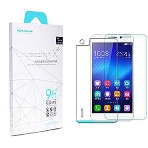 Protector de pantalla de vidrio templado 9H Transparente + Teléfono Cámara Protector + Polvo Limpieza Film + Paño de limpieza Para Huawei Honor 6 Nillkin NG00088 -- Empaquetado al por menor