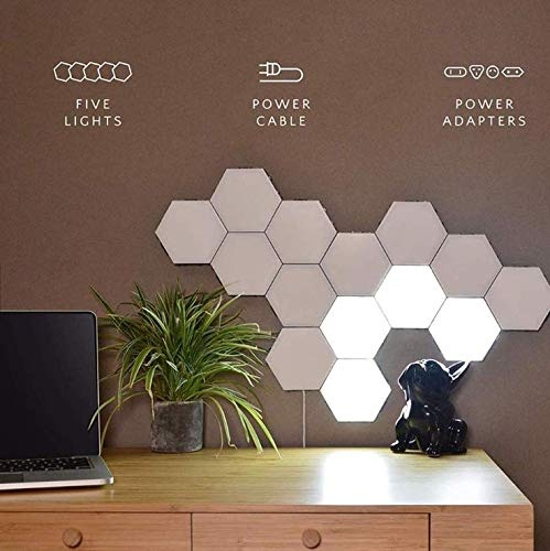 Luce LED ad Alveare componibile 15 pezzi touch