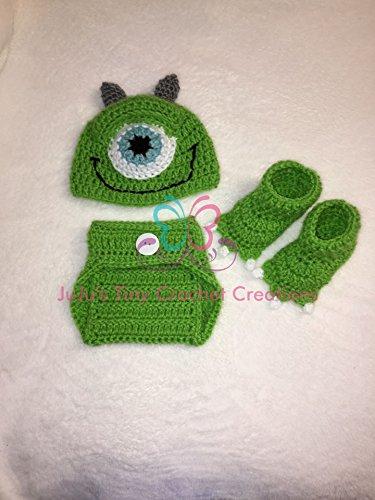Amigurumi Mike Wazowski Free Crochet Pattern - Amigurumi Free ... | 500x375