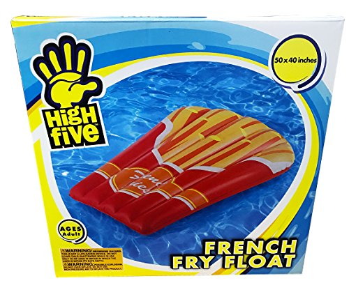 High Five French Fry Pool Float! 50 Inches By 40 Inches! Perfect For Relaxing In The Pool!