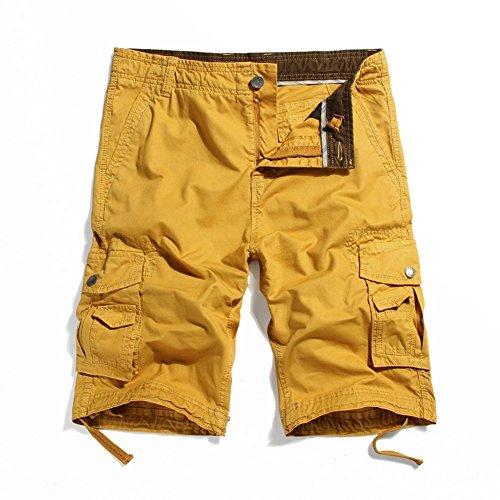 MorryOddy Men's Casual Cotton Multi-Pocket Cargo Shorts