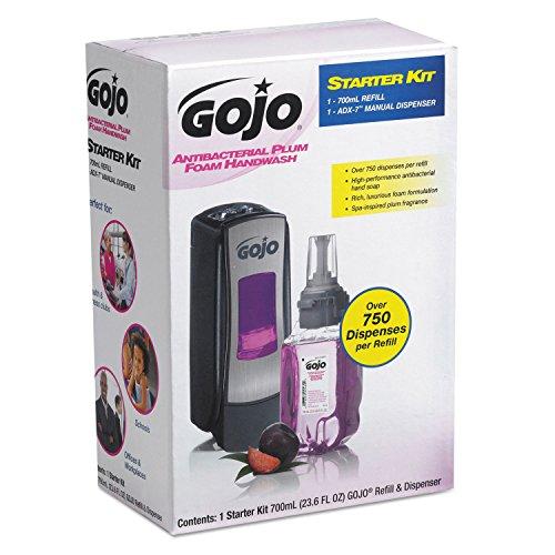 GOJ8712D4 - Gojo Adx Antibac Foam Soap Start Kit Plum 700Ml by Gojo