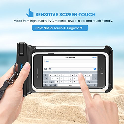 Mpow Waterproof Phone Pouch, Full Transparency IPX8 Waterproof Case with Adjustable Lanyard Universal Dry Bag Compatible for iPhone X/8/8P/7/7P, Galaxy S9/S9P/S8P/Note 8, Google/HTC up to 6.0'' 2-Pack by Mpow (Image #6)