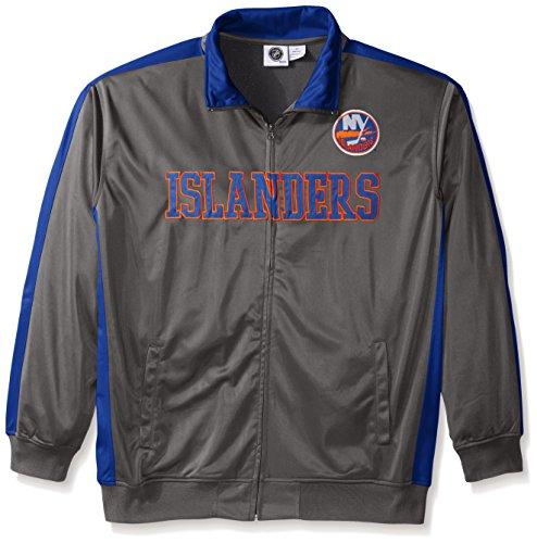 NHL New York Islanders Men's Tricot Track Jacket, 3X, Charcoal - Ny Islanders Jacket