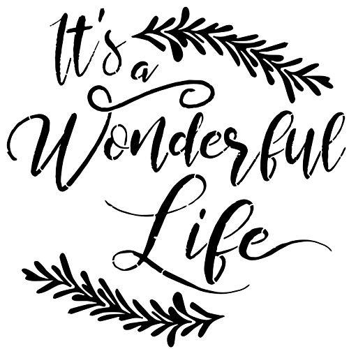 Designer Stencils It's A Wonderful Life Stencil (10 mil Plastic)