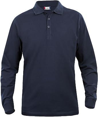 Clique Clothing – Polo de Manga Larga para Hombre Camisa, algodón ...
