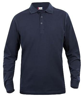Clique Clothing - Polo de Manga Larga para Hombre Camisa, algodón ...
