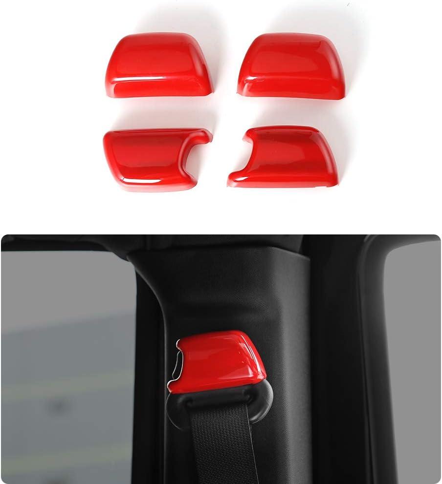 Accesorios de Interior Car NA 2pcs Coche Cubierta del Cintur/ón de Seguridad Hombro Almohadillas para Jeep Rubicon Protecci/ón Hombros Confort Acolchado Protector Clip