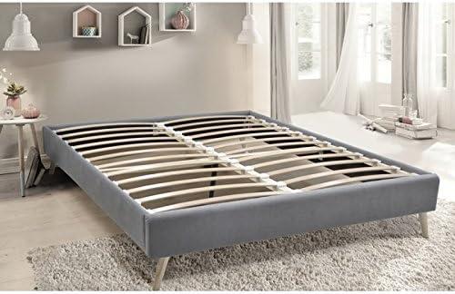 Essenzia Somier Zen Kit Deco 160 x 200 Gris: Amazon.es: Hogar