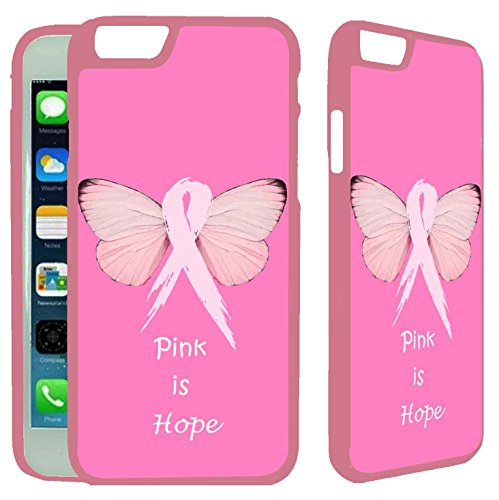 """[TeleSkins] - Breast Cancer Pink is Hope - iPhone 6 / iPhone 6S Case - Ultra Durable Slim Fit,Protective Plastic Snap On Back Case / Cover for Girls [Fits (4.7 """") only]"""
