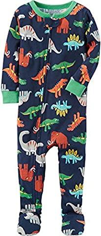 Carter's Boys' 12M-18M One Piece Multi Dinosaur Print Cotton Pajamas 12 Months - Baby Boy Pajamas