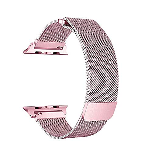 OmkuwlQ For iWatch Series 3/2/1 38mm Stainless Steel Band Magnetic Closure Clasp Strap Replacement Bracelet by OmkuwlQ