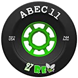 ABEC 11 Flywheel, Refly, Superfly Longboard Wheel for Electric Skateboard, Downhill and Cruising [All Sizes & Durometers] (97mm | 74a - Refly)
