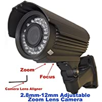 Evertech Infrared CCTV Security Surveillance Camera 700TVL High Resolution 1/3 Sony Super HAD Color CCD DSP Waterproof Indoor/outdoor 2.8-12mm ZOOM Lens 42 IR Leds with Cable Managed Mounting Bracket