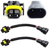 iJDMTOY 9006 to H11 Headlights Conversion Pigtail Connectors Wiring Harness
