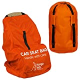 Car Seat Travel Bag -Make Travel Easier & Save Money. Carseat Carrier for Airport – Protect your Child's CarSeats & Stroller from Germs & Damage. Durable, Easy to Carry Padded Backpack For Sale