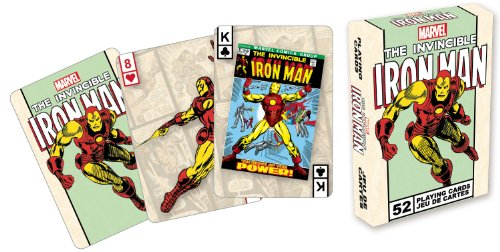 Marvel Comics The Invincible Iron Man Playing Card Game (Best Ironman Costume)