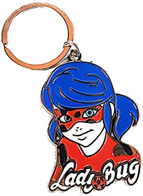 Ladybug Cat Noir Keychain Charm Pendant Tikki Plagg kwami (kwami) (Ladybug)