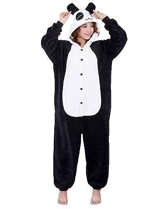 51627966c444e Moollyfox Adulte Unisexe Animal Costume Cosplay Combinaison Pyjama Outfit  Nuit Vêtements Onesie Fleece Halloween Costume Soirée