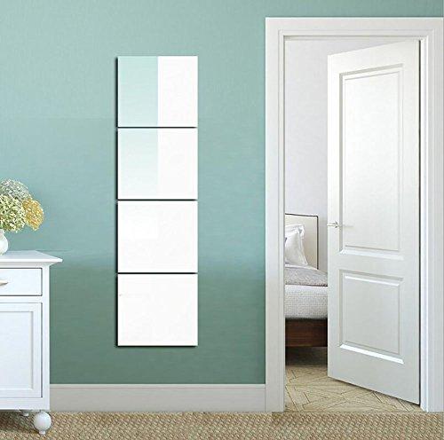 Full-Length Mirror Frameless Combination Mirror Dressing Mirror Bedroom Dorm Mirror Whole Body Mirror 22-40m,XL by D&F