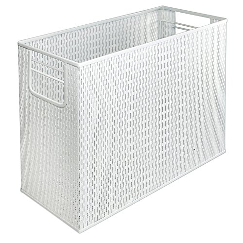 (Artistic Urban Collection Punched Metal Desktop File, White (ART20010WH))