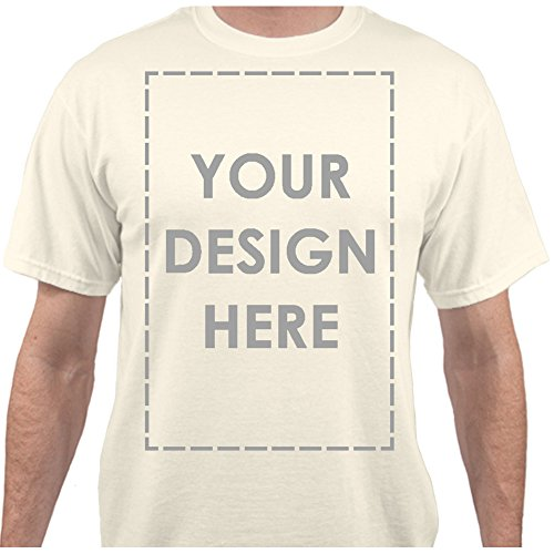 - Add Your Own Custom Text Name Personalized Message Image Natural T-Shirt - XLarge