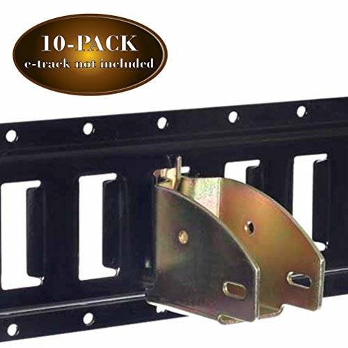 - 10 E-Track Wood Beam End Socket Shelf Brackets w/E Track Fittings, for 2x4 & 2x6 in Truck, Trailer, Van, RV, Cargo Tie-Down Systems, ETrack Tiedowns for Custom Load Bar, Handmade Cabinet, Shelves