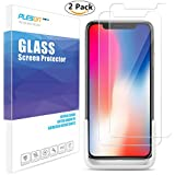 PLESON iPhone X Screen Protector, [Case Friendly] [2-Pack] iPhone X Tempered Glass Screen Protector with Easy Installation Tool,2.5D Bubble-Free HD Glass Screen Protector for Apple iPhone X iPhone 10