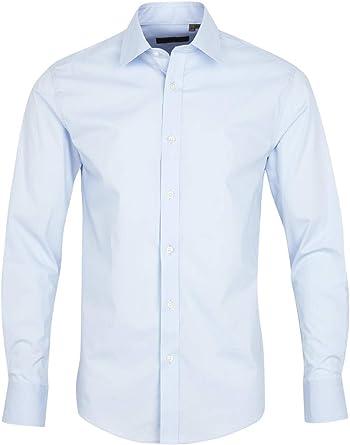 Lindbergh Mens Stretch Shirt L/S Camisa para Hombre: Amazon.es: Ropa y accesorios