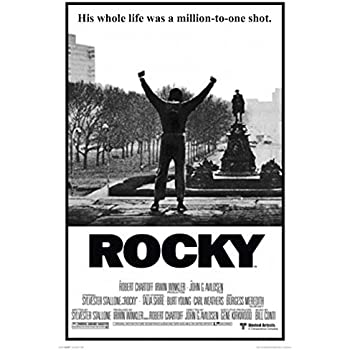 amazoncom rocky poster his whole life was a million to