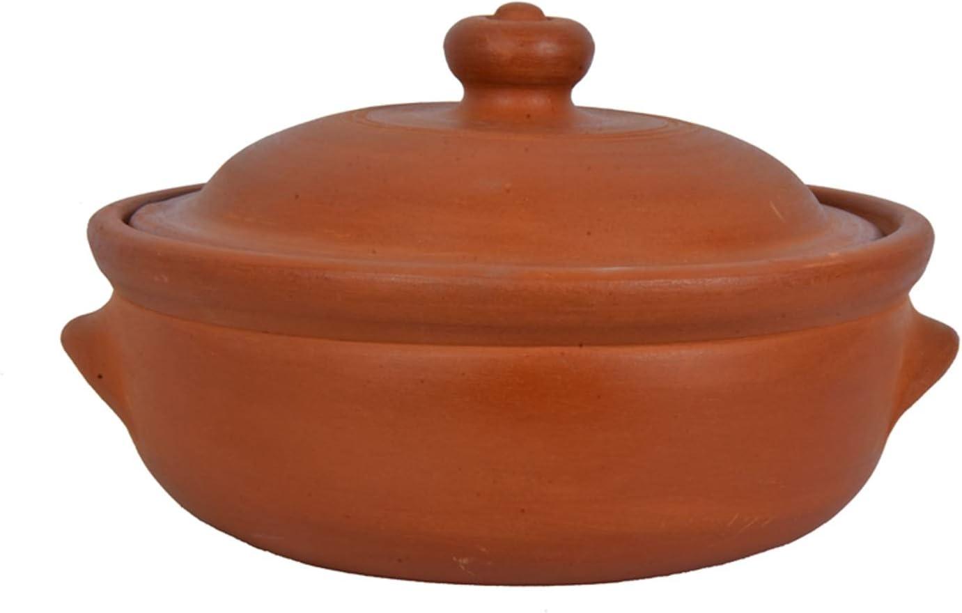 Village Decor Earthen Clay Cooking Bowl (1.1 Qt)