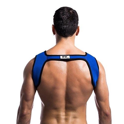 Homme Protéger Neoprène Maillot Pour Fitness Harnais Supports xl Bandage Sport Poitrine Bleu Corps Tiaobug Protective De Sports S Épaule SqwnIHt40