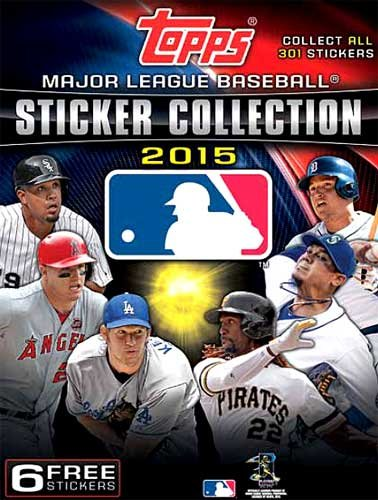 Baseball Booster - 2015 Topps MLB Baseball Hobby Card Collector's Stickers ALBUM + 6 free stickers!