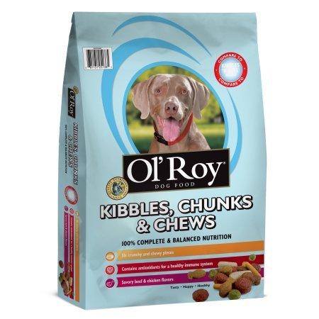 Ol' Roy Kibbles, Chunks & Chews Dry Dog Food, 40 Lb