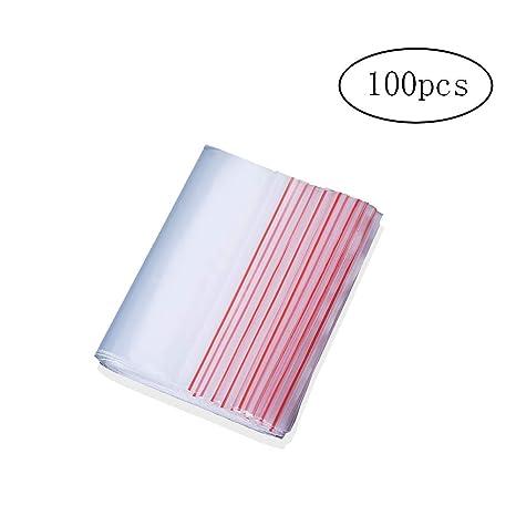 Wilk Paquete de 100 Ziploc Bolsas de plástico Transparente ...