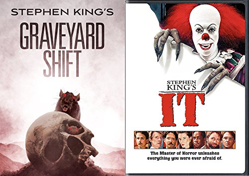 Stephen King Graveyard Shift & IT the Master of Horror DVD Double Feature movie bundle