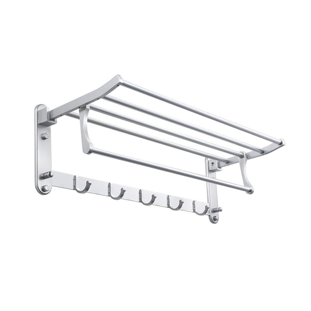 JNYZQ Bad Doppelte Handtuchhalter Raum Aluminium Anhänger Bad Faltbare Handtuchhalter Turm Aufhänger Küche Anhänger (584mm) (größe : 584mm)