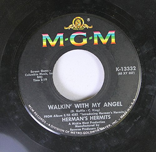 Herman's Hermits 45 RPM Walkin' With My Angel / Silhouettes