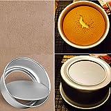 Raza 3pcs/Set Nonstick Cake Baking Mold 8/10/12 Inch Aluminum Alloy Round Baking Mould Pan Bakeware Tool Round Cake Pans