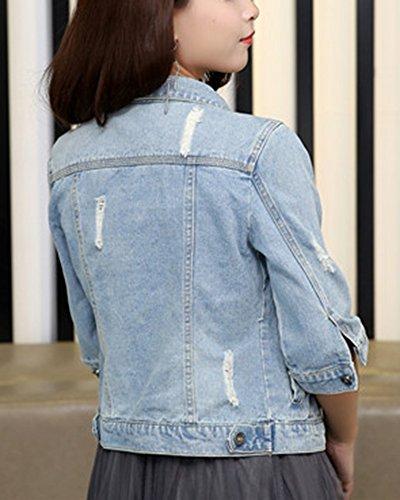 Tops Chaquetas Zarco Autocultivo Transición Mujer Casual Corto Jacket Abrigo Denim xvgwf1a