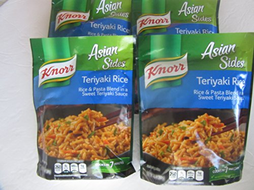 Knorr Asian Teriyaki Rice Pasta Blend 4pk 5.4oz each Sweet Sauce Meals Easy Side Dish
