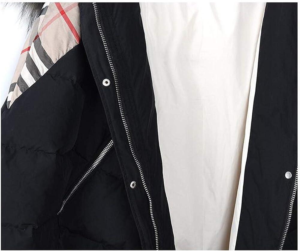 ZEIYUQI Manteau Femme Hiver Chaud Doudoune Femme Hiver Femme Mi-Longueur Épaissie Duvet De Canard Blanc Grand Manteau Lâche De La Mode Col Jacket Gray