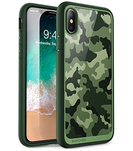 SUPCASE iPhone X, iPhone Xs Case, [Unicorn Beetle Style] Premium Hybrid Protective Clear Case for Apple iPhone X 2017, iPhone Xs 2018 Release (Green)